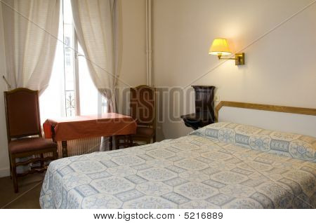 Two Star Hotel Room Paris France