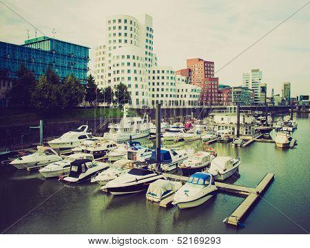 Retro Look Duesseldorf Harbour Germany
