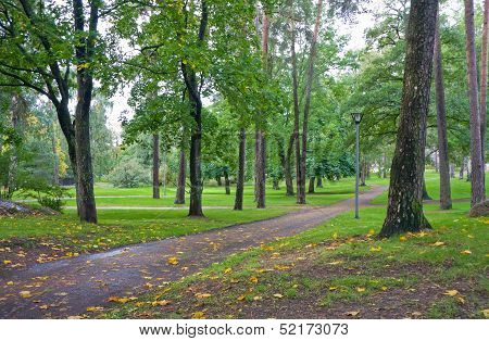 Path In City Park