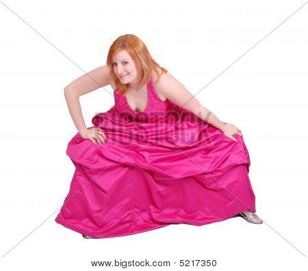 Hot Pink Dress Girl