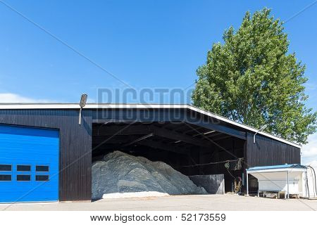 A Barn Filled With Salt