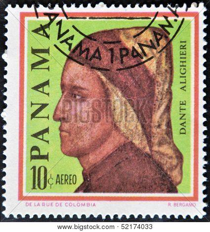 Postage Stamps Printed In Panama, Shows An Italian Writer, Poet, Dante Alighieri