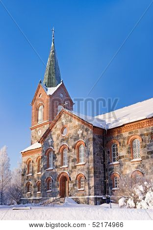 Stone Church In Kuopio, Finland