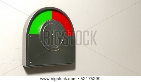 Toilet Indicator Red And Green Split