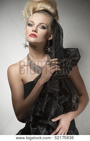 Portrait Of Sexy Dark Lady