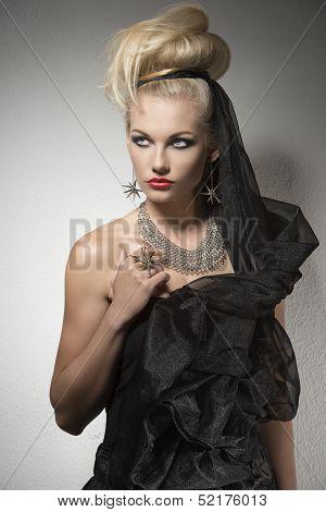 Sexy Woman In Halloween Costume
