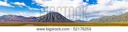 Panoramic shot of Bromo volcano