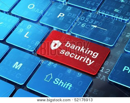Security concept: Shield With Keyhole and Banking Security on co