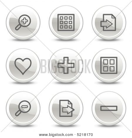 Image Viewer Web Icons, White Glossy Circle Buttons Series