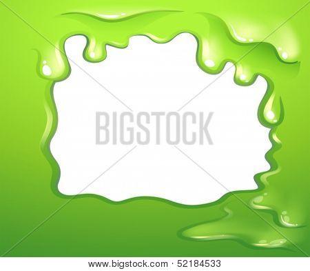 Illustration of a green border design