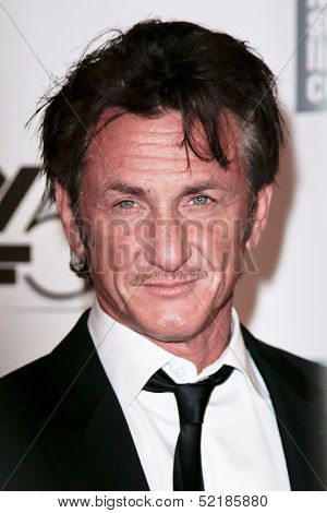 NEW YORK-OCT 5: Actor Sean Penn attends 'The Secret Life Of Walter Mitty' premiere at the 51st New York Film Festival at Alice Tully Hall at Lincoln Center on October 5, 2013 in New York City.