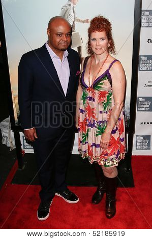 NEW YORK-OCT 5: Actors Terence Bernie Hines and Amy Stiller attend 'The Secret Life Of Walter Mitty' premiere at the New York Film Festival at Alice Tully Hall on October 5, 2013 in New York City.