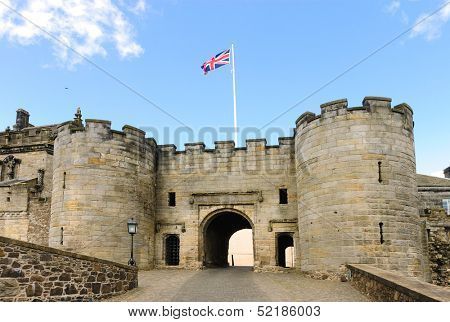 Entrance to Stirling Castle, Scotland