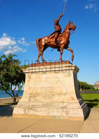 Thaddeus Kosciuszko Statue In Chicago