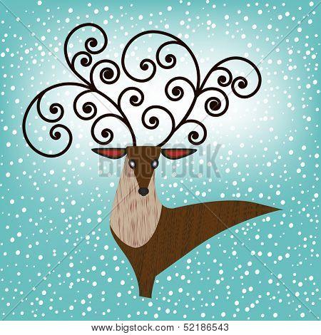 Proud buck - male deer in proud stance