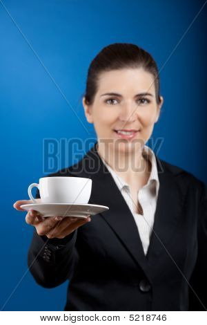 Offering A Cup Of Tea