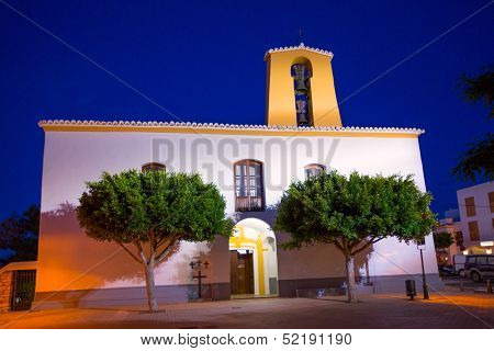 Ibiza Santa Gertrudis de fruitera church Santa Eulalia in Balearic islands