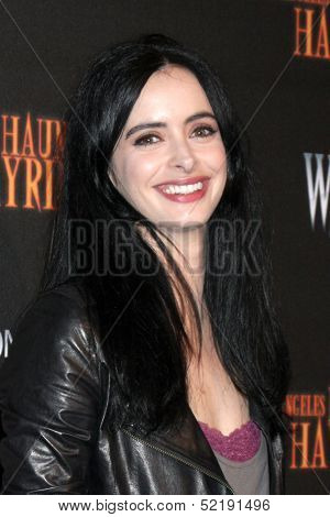 LOS ANGELES - OCT 10:  Krysten Ritter at the 8th Annual LA Haunted Hayride Premiere Night at Griffith Park on October 10, 2013 in Los Angeles, CA