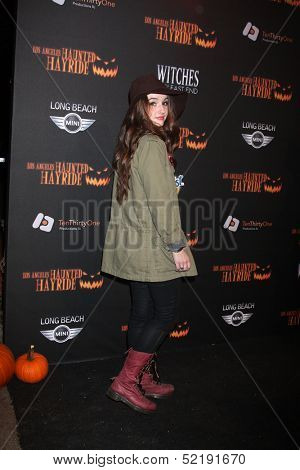 LOS ANGELES - OCT 10:  Kaitlyn Dever at the 8th Annual LA Haunted Hayride Premiere Night at Griffith Park on October 10, 2013 in Los Angeles, CA
