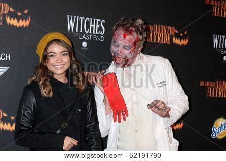 LOS ANGELES - OCT 10:  Sarah Hyland at the 8th Annual LA Haunted Hayride Premiere Night at Griffith Park on October 10, 2013 in Los Angeles, CA