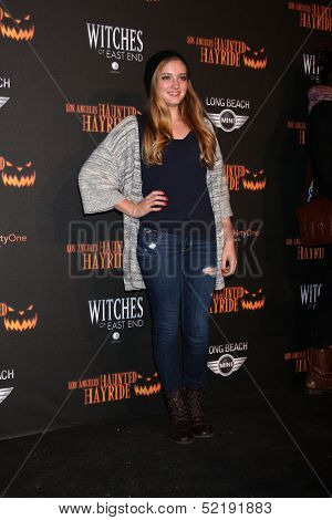 LOS ANGELES - OCT 10:  Willow Shields at the 8th Annual LA Haunted Hayride Premiere Night at Griffith Park on October 10, 2013 in Los Angeles, CA
