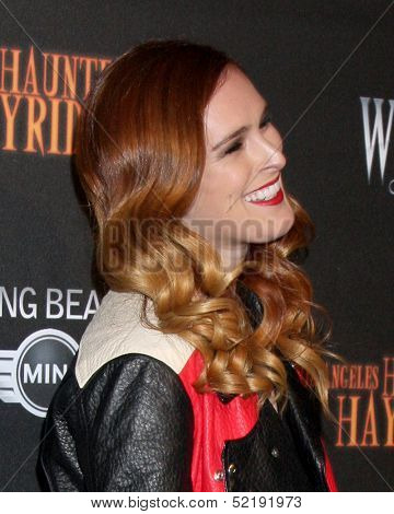 LOS ANGELES - OCT 10:  Rumer Willis at the 8th Annual LA Haunted Hayride Premiere Night at Griffith Park on October 10, 2013 in Los Angeles, CA