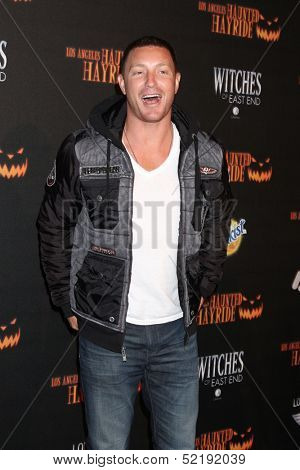 LOS ANGELES - OCT 10:  Lane Garrison at the 8th Annual LA Haunted Hayride Premiere Night at Griffith Park on October 10, 2013 in Los Angeles, CA