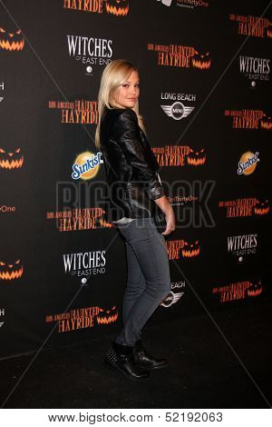 LOS ANGELES - OCT 10:  Olivia Holt at the 8th Annual LA Haunted Hayride Premiere Night at Griffith Park on October 10, 2013 in Los Angeles, CA