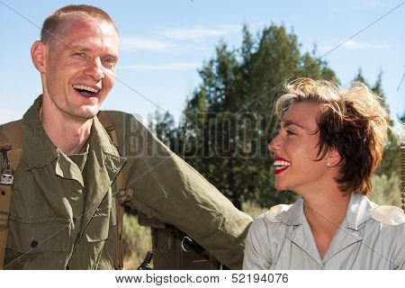 Wwii Soldier And Nurse