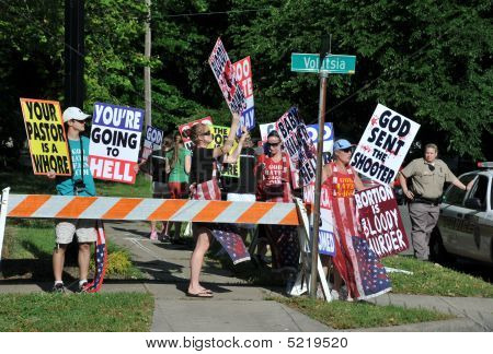 Abortion Protest At Tiller Funeral