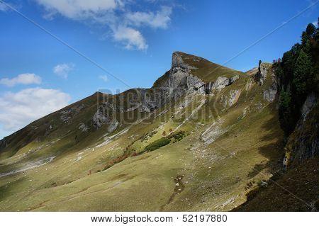 Hiking in the Allgaeu Alps in Tyrol