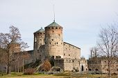 picture of olaf  - Famous Medieval Olavinlinna stone castle in Savonlinna Finland - JPG