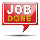 image of job well done  - Job well done sign or icon - JPG