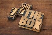 foto of thinking outside box  - think outside the box  - JPG