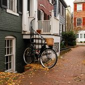 Historical Georgetown townhouses in Washington DC - United States