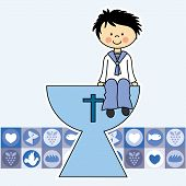 image of chalice  - First Communion Invitation Card - JPG