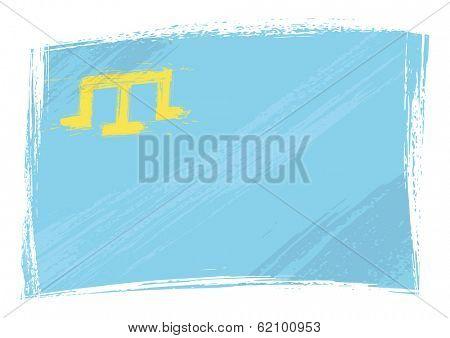 Grunge Crimean Tatar flag