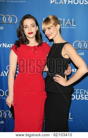 LOS ANGELES - MAR 22: Kat Dennings, Beth Behrs at the Geffen Playhouse's Annual 'Backstage At The Geffen' Gala at Geffen Playhouse on March 22, 2014 in Los Angeles, California