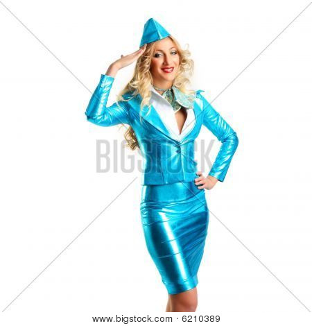 Smiling Stewardess