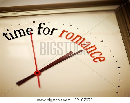 An image of a nice clock with time for romance