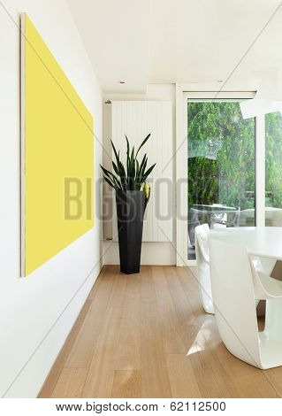 interiors of a modern house, detail dining room