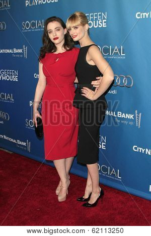 LOS ANGELES - MAR 22:  Kat Dennings, Beth Behrs at the Backstage At The Geffen Gala at Geffen Playhouse on March 22, 2014 in Westwood, CA