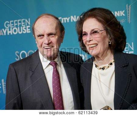 LOS ANGELES - MAR 22:  Bob Newhart at the Backstage At The Geffen Gala at Geffen Playhouse on March 22, 2014 in Westwood, CA