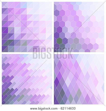 Abstract Lila Patterns