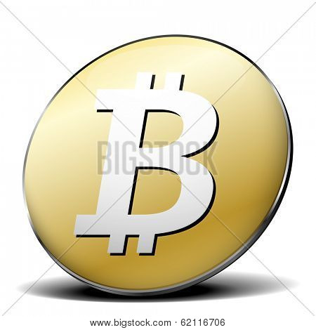 illustration of a bitcoin icon, eps10 vector
