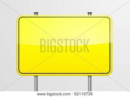 detailed illustration of an empty roadsign frame, eps10 vector