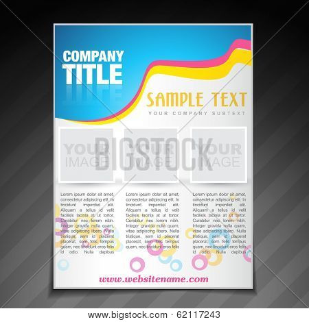 vector modern company brochure flyer poster template