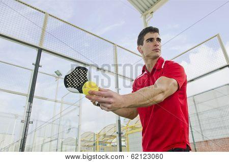 Paddle Tennis Serve