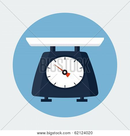 Kitchen Scale. Vector illustration