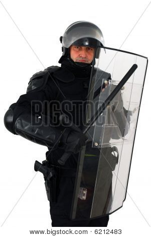 Policeman With Full Equipment